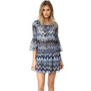 Red Carter Womens Beach Cover Up  Indigo Blue L